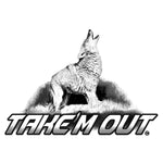 "COYOTE HOWLING DECAL Titled ""Take'm Out"" By Upstream Images"