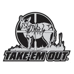 "COYOTE DECAL Titled ""TAKE'EM OUT"" By Upstream Images"