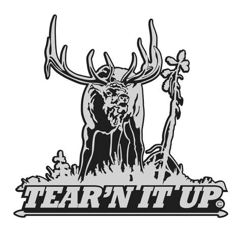 "BULL ELK DECAL Titled ""TEAR'N IT UP"" By Upstream Images"