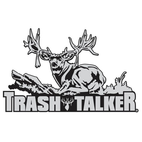 "MULE DEER DECAL Titled ""TRASH TALKER"" By Upstream Images"