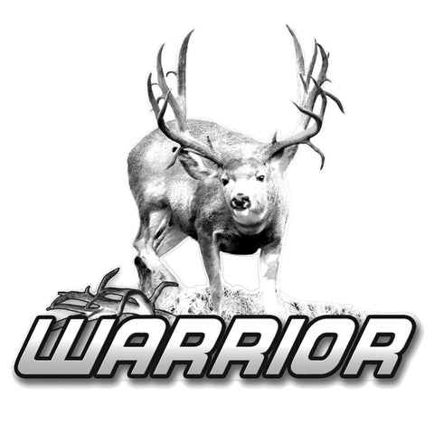 "MULE DEER DECAL Titled ""Warrior"" By Upstream Images"
