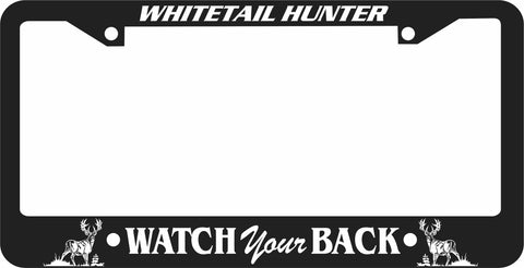 WHITETAIL LICENSE PLATE FRAME-WATCH YOUR BACK