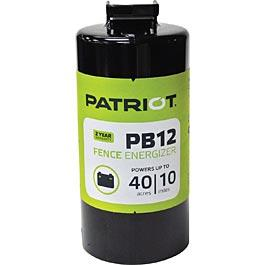 PATRIOT PB 12 12V DC BATTERY POWERED FENCE CHARGER, 10 MILE / 40 ACRE | FREE SHIPPING AND FENCE TESTER - Speedritechargers.com