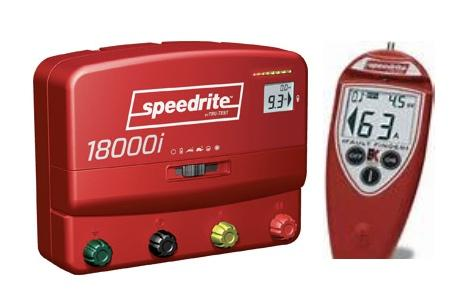SPEEDRITE 18000i + REMOTE CONTROL DUAL POWERED 110V/12V ENERGIZER | 18 JOULE | FREE U.S.A. SHIPPING AND FENCE TESTER - Speedritechargers.com