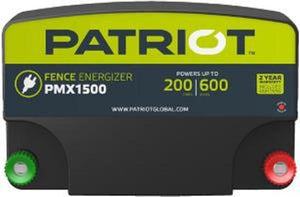 PATRIOT PMX 1500 110V AC POWERED FENCE CHARGER, 200 MILE / 600 ACRE | FREE SHIPPING AND FENCE TESTER - Speedritechargers.com