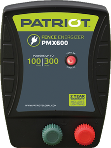 PATRIOT PMX 600 110V AC POWERED FENCE CHARGER, 100 MILE / 300 ACRE | FREE SHIPPING AND FENCE TESTER - Speedritechargers.com