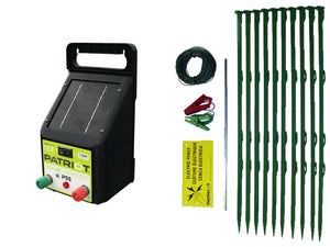Patriot PS5 Solar Pet and Garden electric fence kit