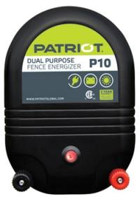 PATRIOT P10 AC/DC DUAL POWERED FENCE CHARGER, 30 MILE / 100 ACRE | FREE SHIPPING AND FENCE TESTER - Speedritechargers.com