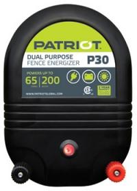 PATRIOT P30 AC/DC DUAL POWERED FENCE CHARGER, 65 MILE / 200 ACRE | FREE SHIPPING AND FENCE TESTER - Speedritechargers.com