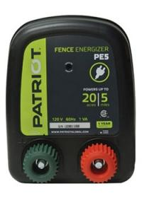 PATRIOT PE 5 110V AC POWERED FENCE CHARGER, 5 MILE / 20 ACRE | FREE SHIPPING - Speedritechargers.com