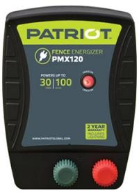 PATRIOT PMX 120 110V AC POWERED FENCE CHARGER, 30 MILE / 100 ACRE | FREE SHIPPING AND FENCE TESTER - Speedritechargers.com