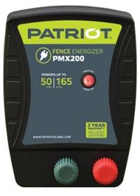 PATRIOT PMX 200 110V AC POWERED FENCE CHARGER, 50 MILE / 165 ACRE | FREE SHIPPING AND FENCE TESTER - Speedritechargers.com