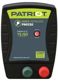 PATRIOT PMX 50 110V AC POWERED FENCE CHARGER, 15 MILE / 60 ACRE | FREE SHIPPING AND FENCE TESTER - Speedritechargers.com