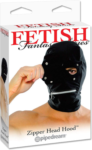 Pipedream Fetish Fantasy Zipper Head Hood Black