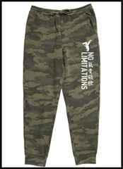 NO LIMITATIONS CAMO JOGGERS