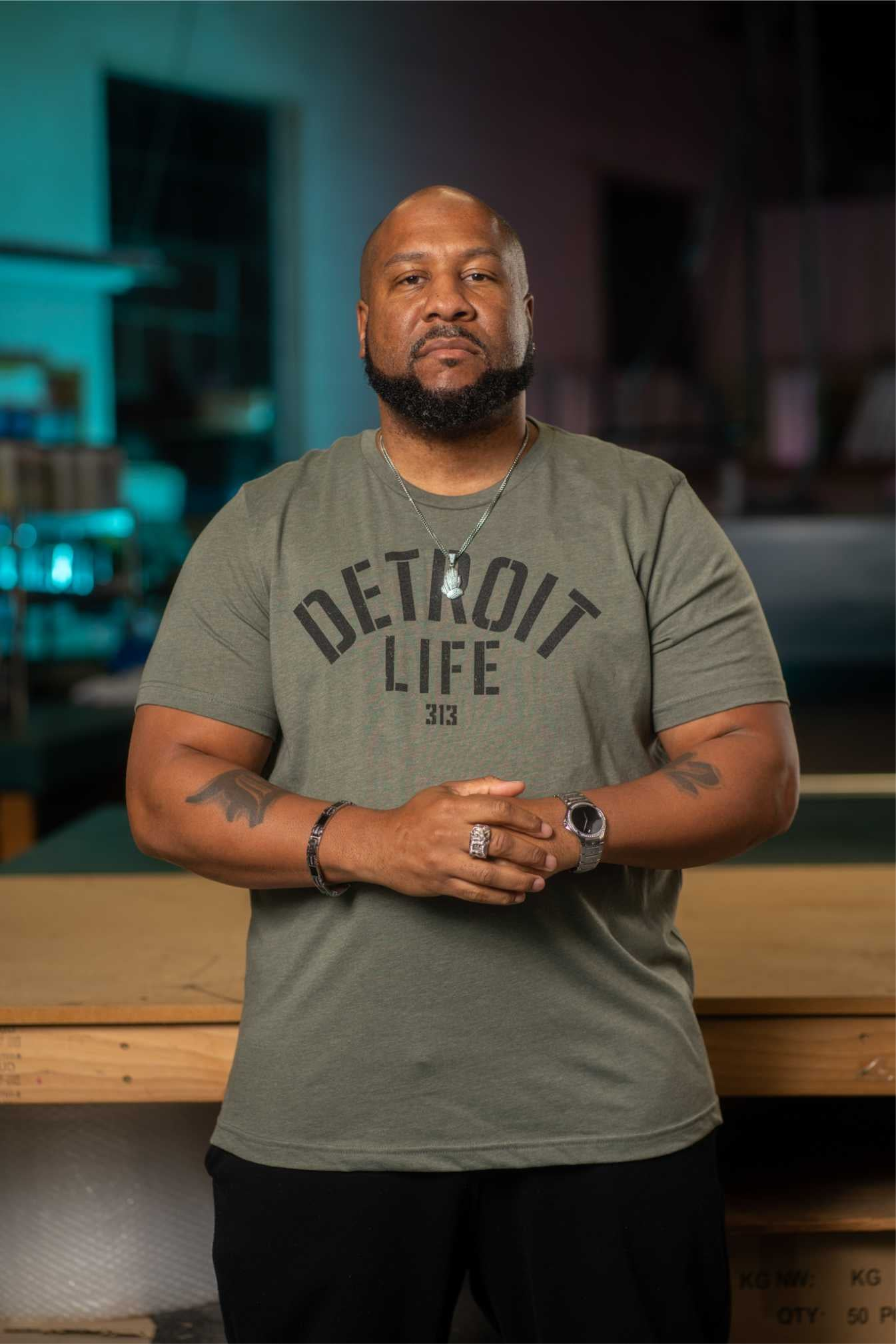 DETROIT LIFE ARMY T SHIRT