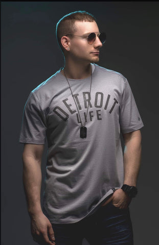 DETROIT LIFE GRAY T-SHIRT