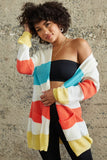 Kelly Multi Color Stripe Knit Cardigan