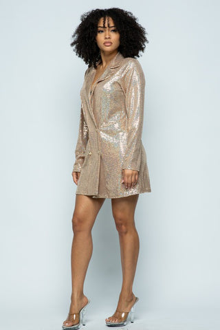 Luna Sequin Jacket Dress
