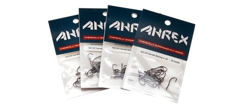Ahrex NS150 Curved Shrimp Fly Hooks