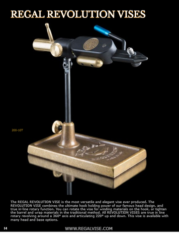 Regal Revolution Traditional Head with Bronze Pocket Base Vise