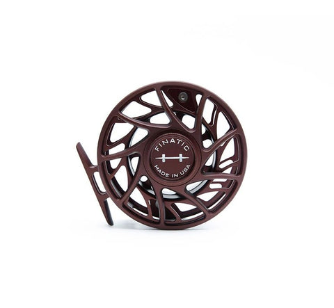 Hatch Finatic Gen 2 Custom Color Ox Blood 9 Plus Large Arbor Fly Reels