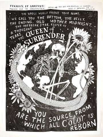 """Queen of Surrender"" Prayer written and illustrated by Kim Krans - Limited Edition Print 