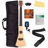 Lightweight Travel Guitar Bundle With Tuner