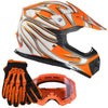 Youth And Kids Off Road Gear Combo Orange(Xl)