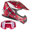 Removable Off Road Helmet & Goggles