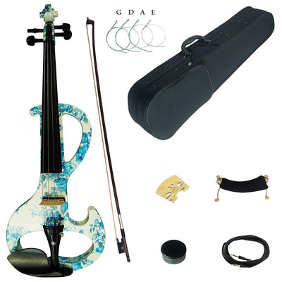 Electric / Silent Violin Kit With Ebony Fittings Full Size