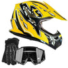 Offroad Gear Helmet Combo - Yellow, X-Large