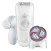Electric Hair Removal With Facial Brush