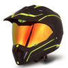 Dual Sport Motorcycle Helmet (Matt Black & Yellow)