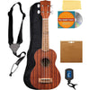 Mahogany Ukulele With Geared Tuners