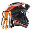 Dual Sport Motocross Helmet Combo - Orange,Black