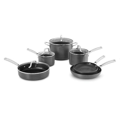 10 Piece Classic Nonstick Cookware Set, Grey