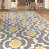 Gray/Yellow Indoor Rug,53 x 73