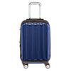 Blue Front Pocket Hard Case Suitcase