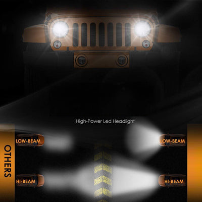 LED Headlight Bulbs With 2 Pcs Of High Power Chips