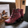 Women Round Toe Motorcycle Boots