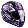 Women's Full Face Motorcycle Helmet(Matte Purple,Large)