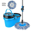 Microfiber Mop and Bucket with 2 Mop Heads
