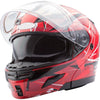 Snowmobile Helmet - Red/Maroon Large