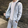With Velvet Hooded Warm Fitness Men's Sports Suit