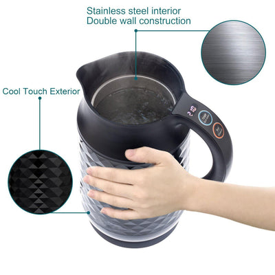 Temperature Control Stainless Steel Electric Water Kettle