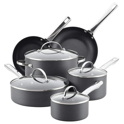 Aluminum Nonstick Cookware Set, 14-Piece,Gray