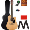 Cutaway Acoustic-Electric Guitar Bundle With Hard Case