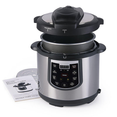 Electric Pressure Cooker - Stainless and Black,Silver