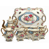 White Vintage Tea Cup & Serving Tray Set